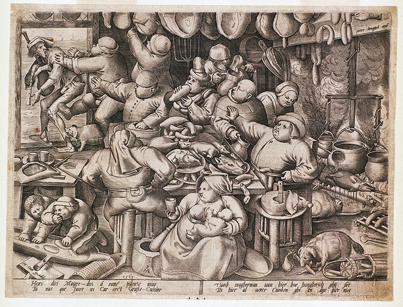 La légende dit : Hors dici Maigre-dos a eune' hideuse mine. Tu nas que' faire ici Car cest Grasse-Cuisine.